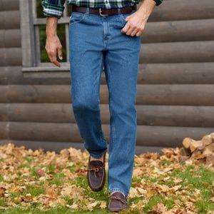 L.L. Bean Classic Fit Jeans Stonewash 42 x…